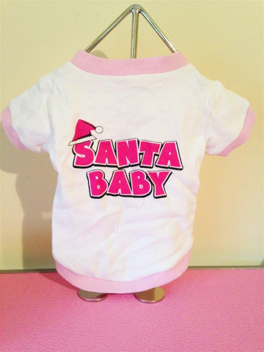 Santa Baby Shirt - Posh Pet Glamour Boutique