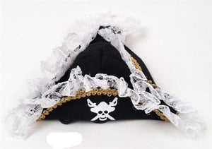 Scallywag Pirate Costume Hat,posh-pet-glamour-boutique.