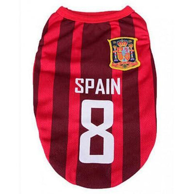Spain World Cup Soccer Tank - Posh Pet Glamour Boutique