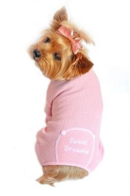 Sweet Dreams Embroidered Pajama Pink - Posh Pet Glamour Boutique