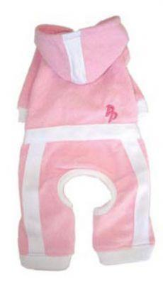 Terry Hoody Jumper Pink - Posh Pet Glamour Boutique