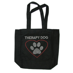 Therapy Dog Tote Bag - Posh Pet Glamour Boutique