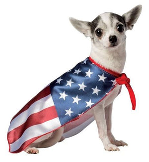 USA Flag Cape - Posh Pet Glamour Boutique