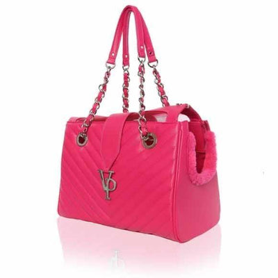 Vanderpump Monogramme Chain Carrier - Posh Pet Glamour Boutique