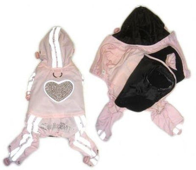 Waterproof Pink Jumper with Heart - Posh Pet Glamour Boutique