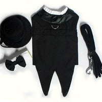 Wedding Tuxedo Black with Tails - Posh Pet Glamour Boutique