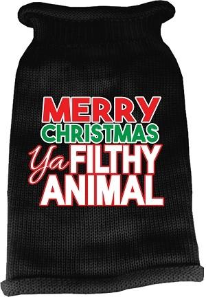Ya Filthy Animal Screen Print Knit Sweater - Posh Pet Glamour Boutique