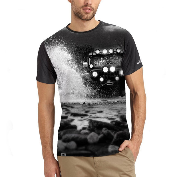 Thundering jeep - Grey Czer Series T-Shirt - RoadGods
