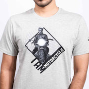 I Am Motorcycle Men's Grey T-shirt - Gods Exclusive Collection - RoadGods