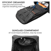 Ghost - Anti-Theft Laptop Backpack (Daring Texture) - RoadGods