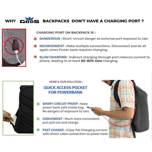 Zarc Anti-Theft Laptop Backpack (Melange) - RoadGods