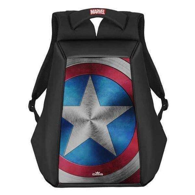 Marvel Avengers Exclusive Captain America Shield Ghost 15.6 Inch Laptop Backpack - RoadGods