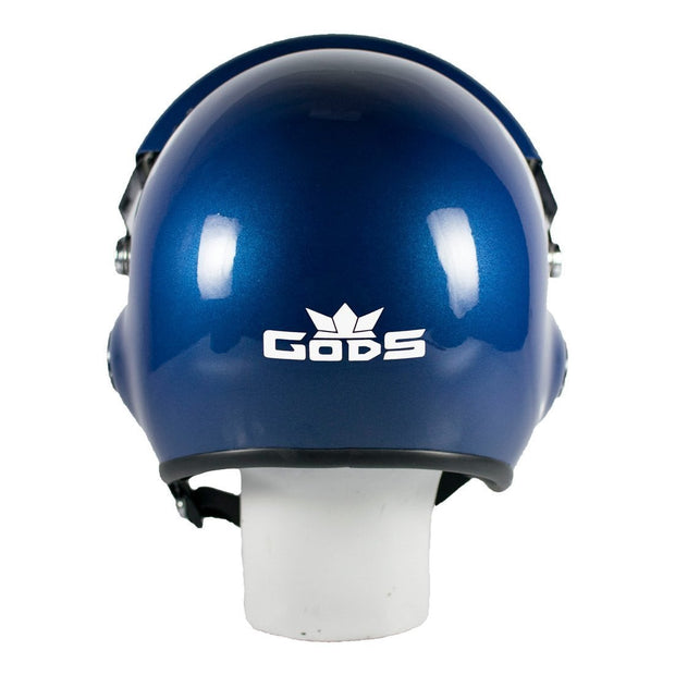 The Squadron (Glossy Blue) Motorcycle Open Face Helmet with Twin Visors | RoadGods - RoadGods