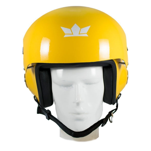 The Squadron (Glossy Yellow) Motorcycle Open Face Helmet with Twin Visors | RoadGods - RoadGods