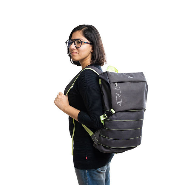 AEROS 12 - Expandable Light-Weight Laptop Backpack - RoadGods