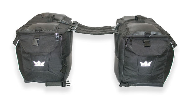 Gods Triton X1 - 75Ltr Saddlebag with Capsule Rain Cover - RoadGods