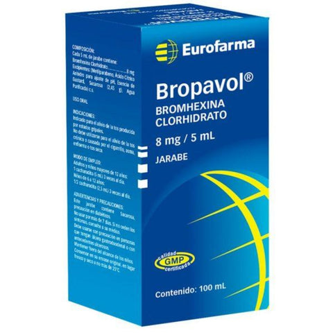 Bropavol jarabe 8 mg / 5 ml x 100 ml