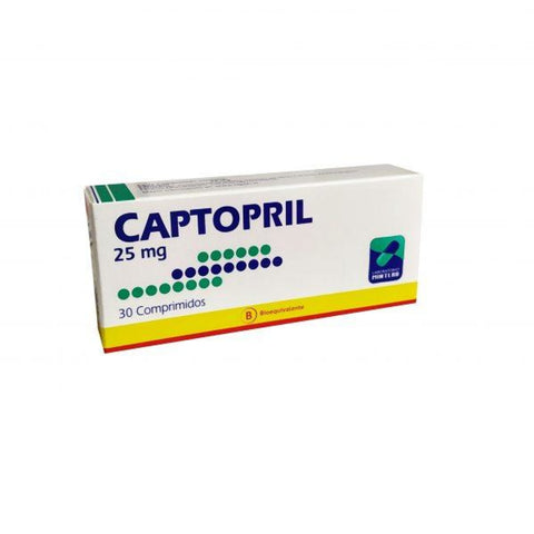 Captopril 25 mg. x 30 Comprimidos
