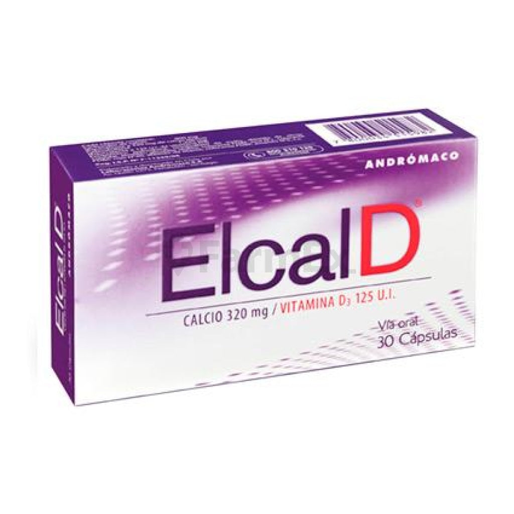 Elcal D 320 mg calcio / Vitamina D3 125 U.I. x 30 capsulas