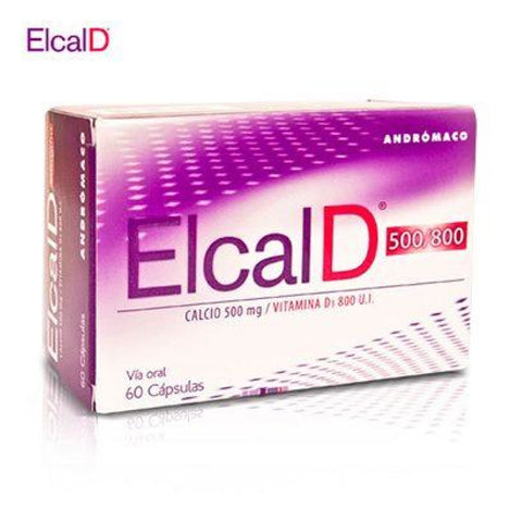 ELCAL D 500/800mg. Calcio+Vit. D3  x 60 CAPSULAS