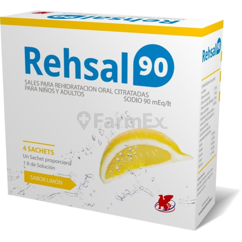 Rehsal - 90 LIMON x 4 sobres