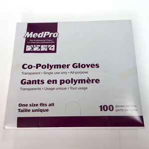Co-Polymer Gloves, Superthin, One-Size (20 X 100 Packs per Case)