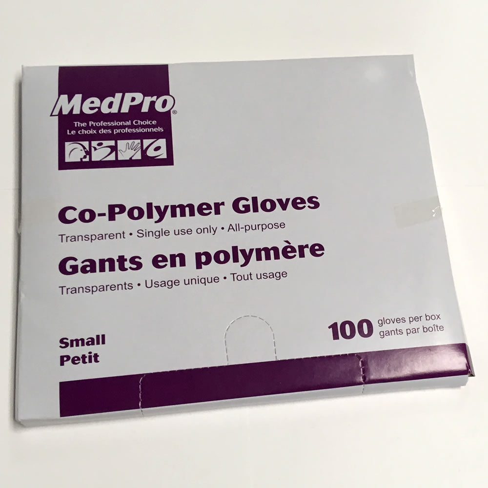 Co-Polymer Gloves Flat Pack (50 X 100 Packs per Case)