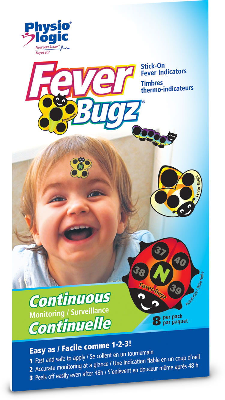 Fever-Bugz Stick on Thermo-Indicators ( 8 bugz / pack, 12 packs / box)