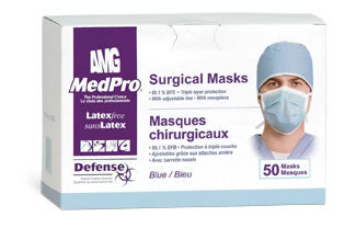 MedPro Defense Surgical Masks (50 / box, 6 boxes / case)