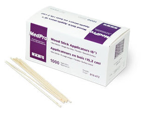 "MedPro Wood Applicators 6"" (1000 / box, 30 boxes / case)"