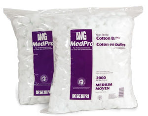 MedPro Cotton Balls (2000 / bag, 2 bg/case)