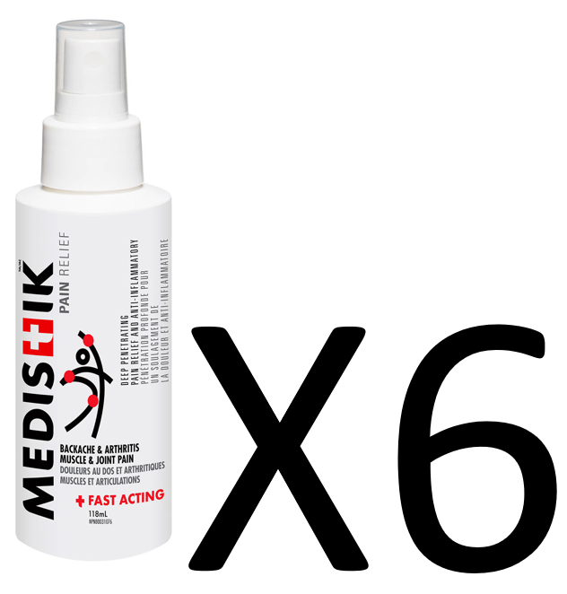 FAST ACTING MEDISTIK- DUAL ACTION SPRAY (Case of 6)