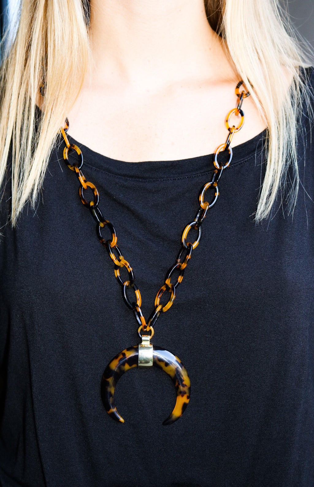 VIRGINIA Necklace, Tortoise - Shop Allie Marie
