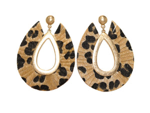 ROXY Earrings, Leopard - Shop Allie Marie