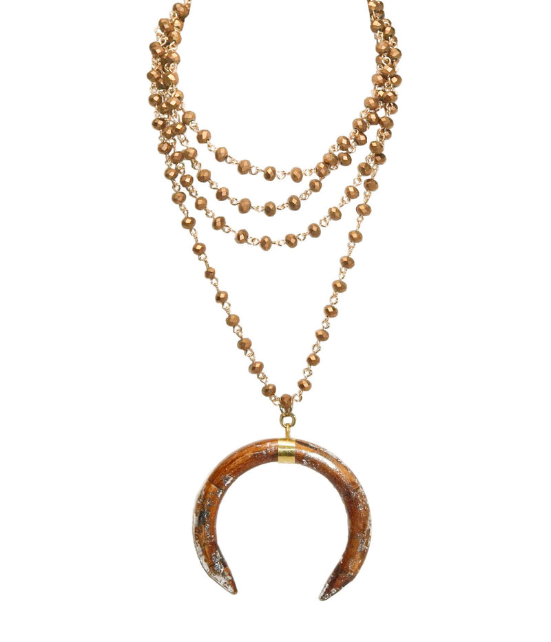 EMILIE Necklace, Bronze - Shop Allie Marie