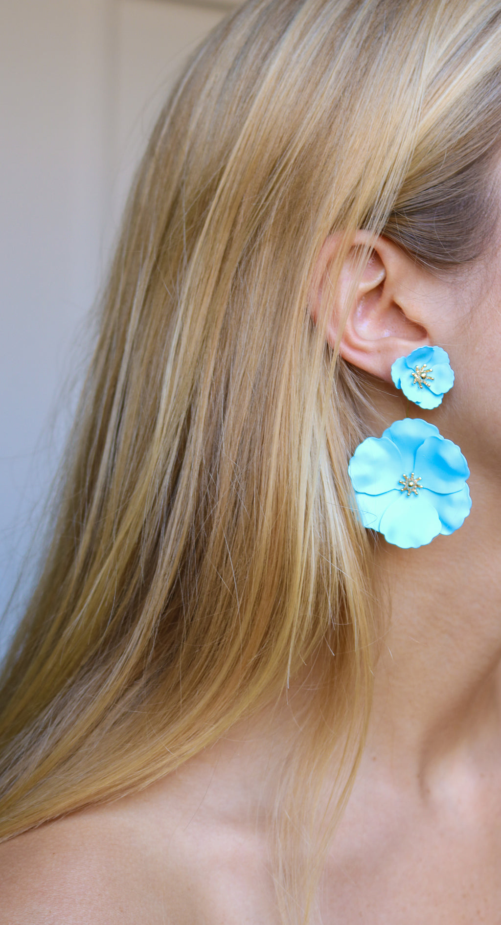 FRANCES Earrings, Light Blue - Shop Allie Marie