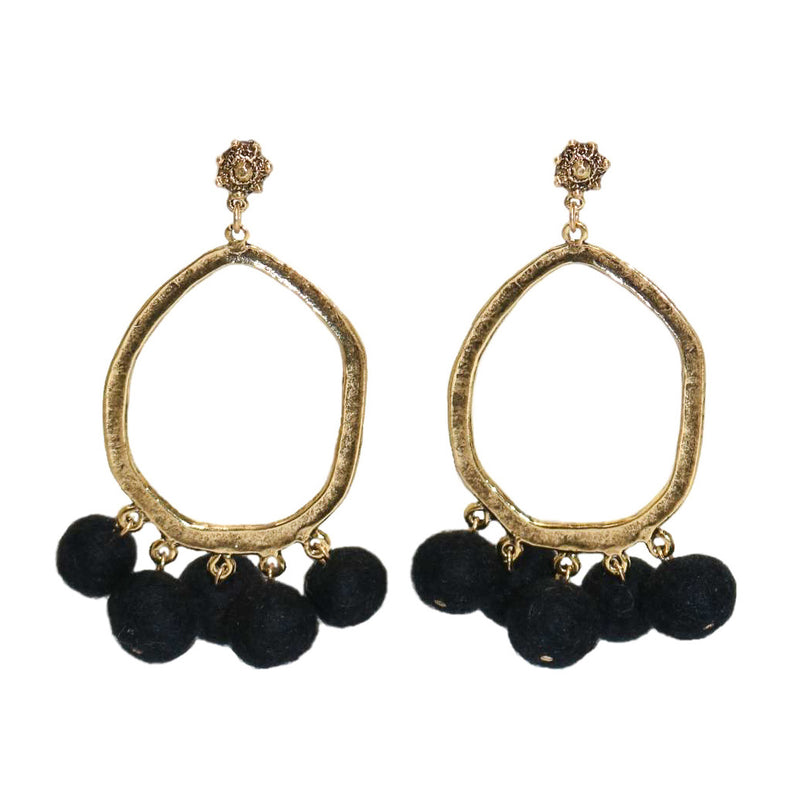 STEPH Pom Pom Earrings - Shop Allie Marie