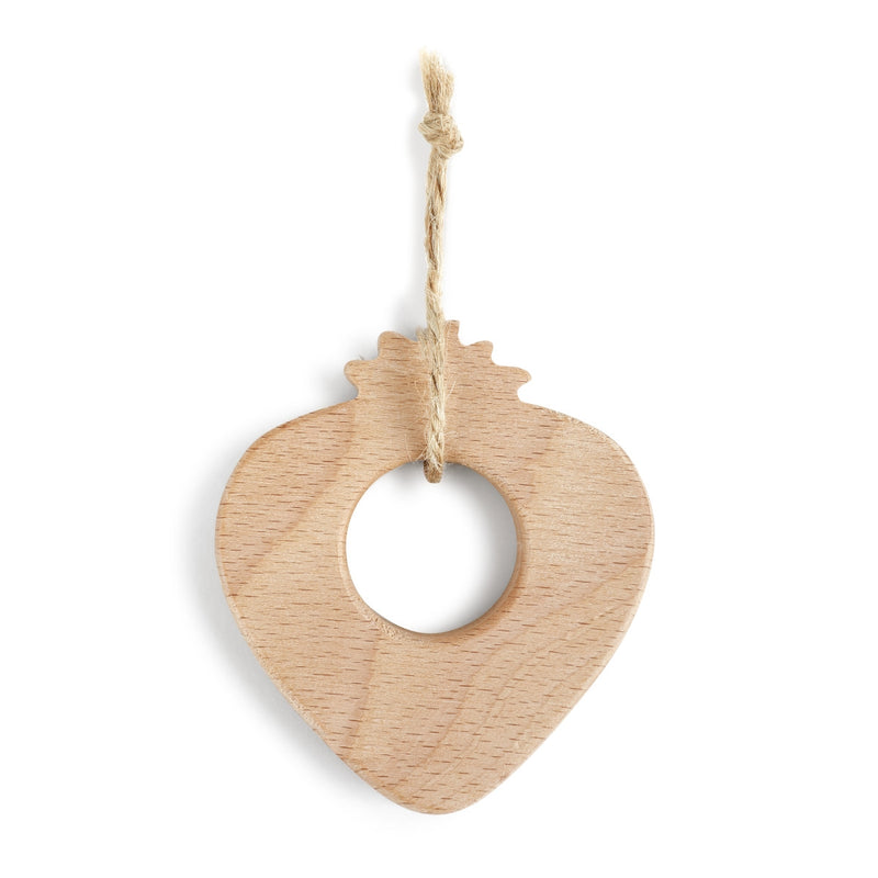 Natural Wood Teether - Available in Apple, Watermelon, Avocado & Strawberry Designs
