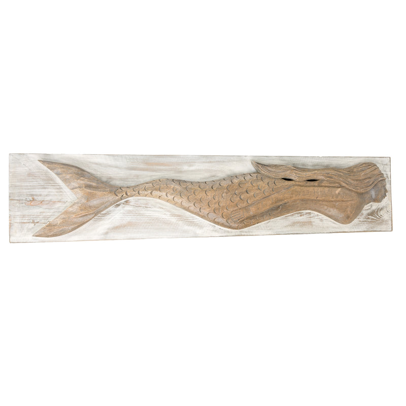 Carved Mermaid Wall Decor