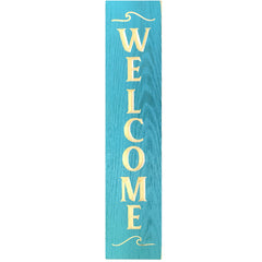 Vertical Welcome Barn Wood Sign 24