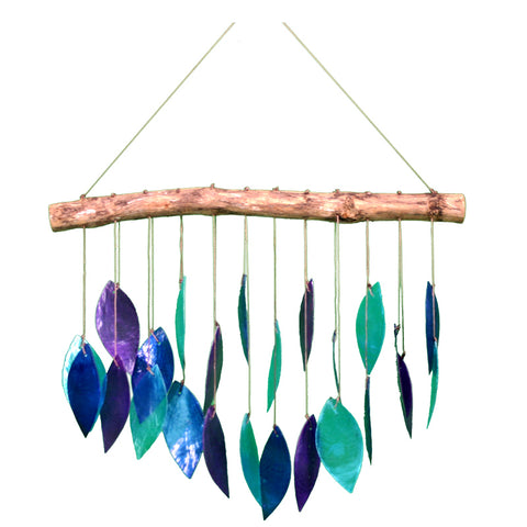 Multicolored Capiz Shell Windchime