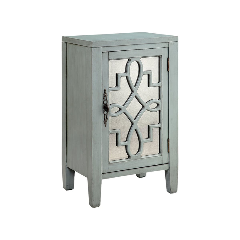 Leighton 1-Door Cabinet in Blue Grey