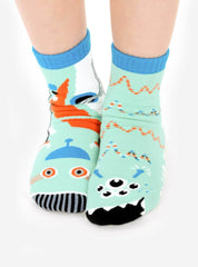 Robot & Alien | Kids & Adult Socks | Collectible Mismatched Socks