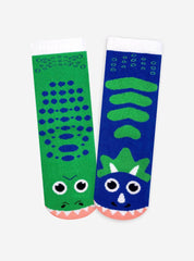 T-Rex & Triceratops | Kids & Adult Socks | Mismatched Fun Socks