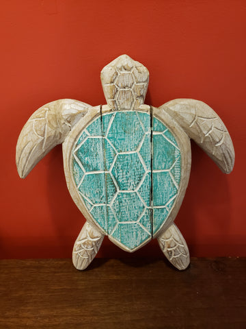 Wooden Sea Turtle Wall Decor