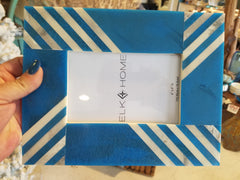Stripes Turquoise 4x6 Picture Frame