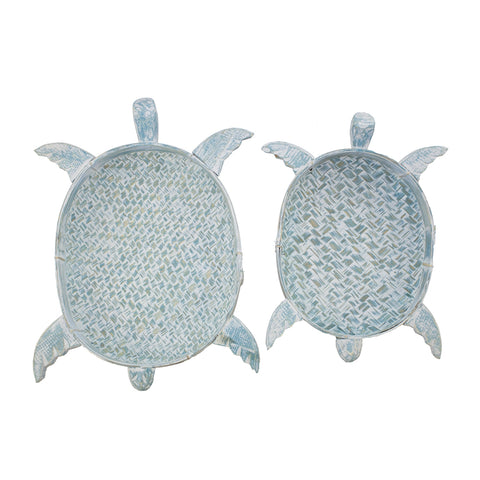 Small Large or Set of 2 Bamboo Turtle Baskets