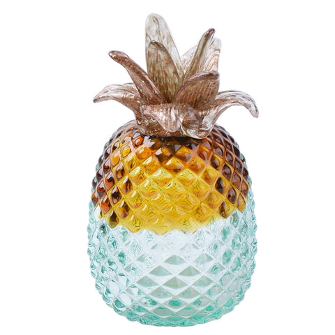 Blue Ombre Glass Pineapple