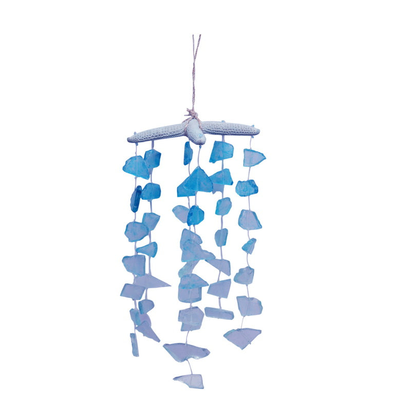 Blue Starfish and Sea Glass Hanging Decor