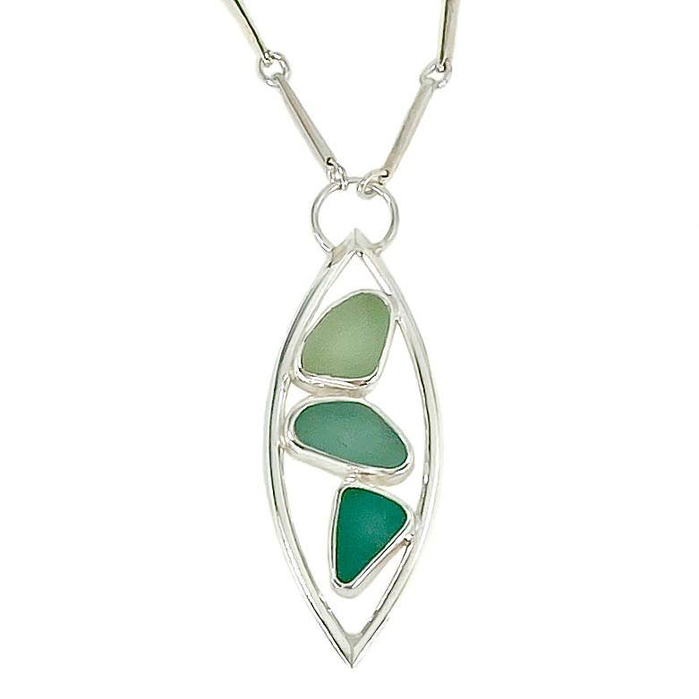 Sea Glass Arc Necklace